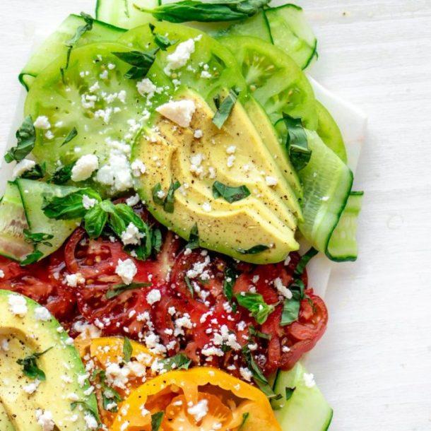 Opulent Heirloom Tomato Salad