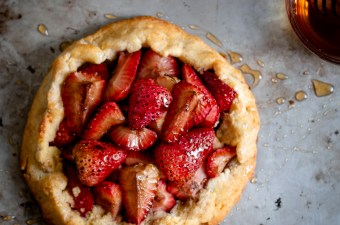Perfectly Imperfect Balsamic Roasted Strawberry Galette-Gluten Free & Low Carb