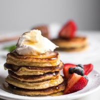 Soft & Buttery Ricotta Pancakes 🥞 {GF & Low Carb}
