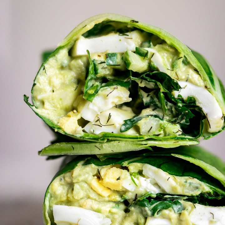 Green Goddess 🥑 Avocado Egg Salad Wrap