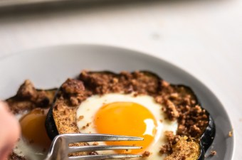 Low Carb Baked Egg Squash Rings
