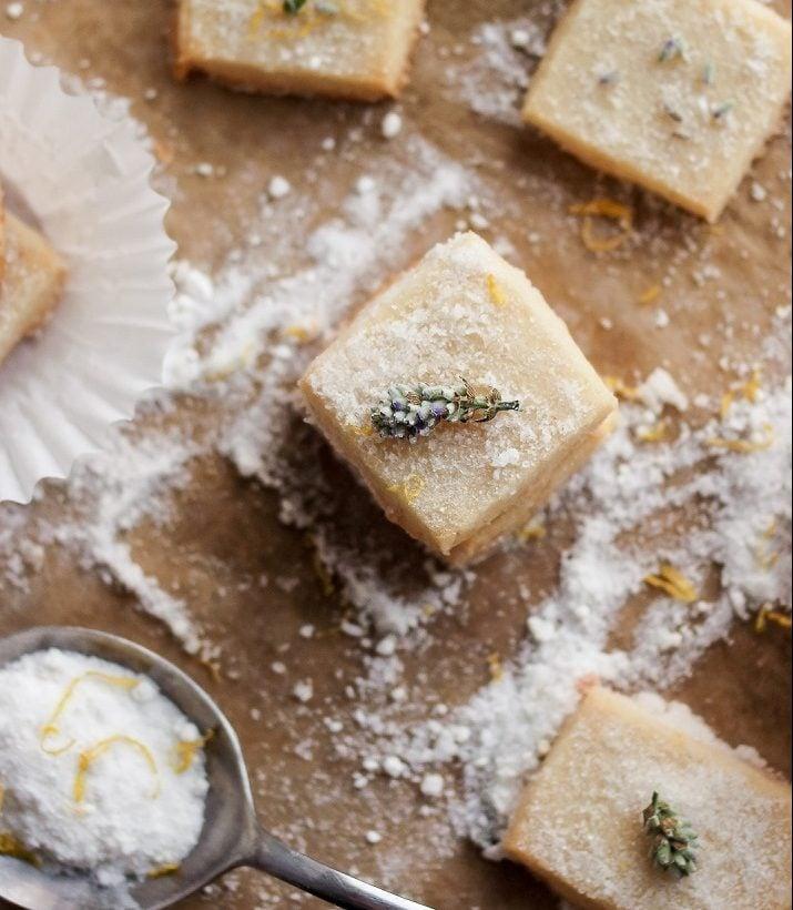 Lavender Shortbread with Lemon Sugar