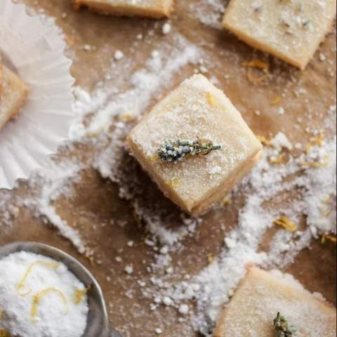 Lavender Shortbread with Lemon Sugar