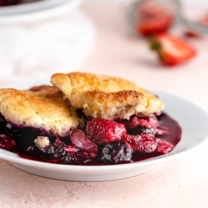Summer Berry Cobbler {Gluten Free & Low Carb}