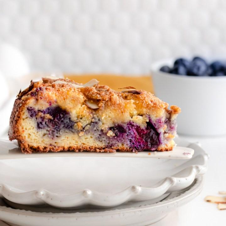 Keto Blueberry Coffee Cake!