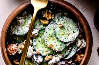 Crunchy Cucumber Walnut & Dill Salad