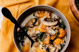 Glowing Harvest Vegetable Soup {GF, Vegetarian}