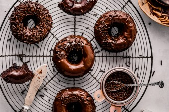 Light & Fluffy Keto Chocolate Cake Donuts