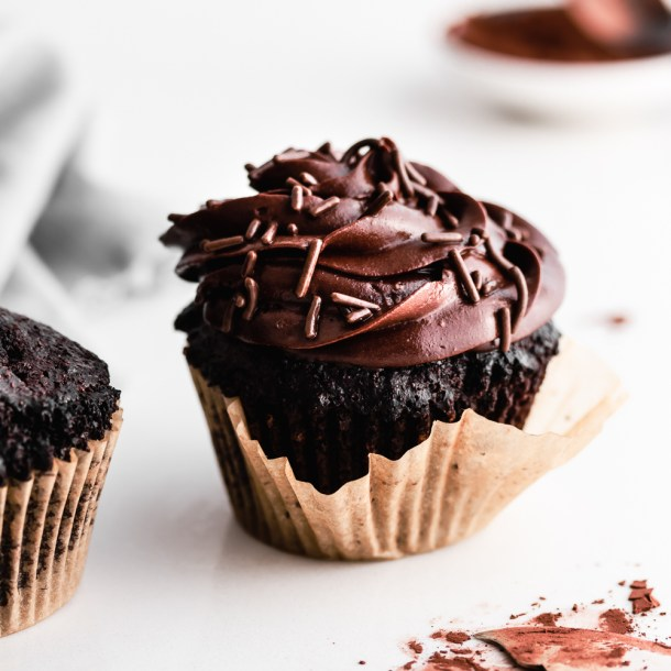 Keto Devil's Food Cupcakes For TWO!