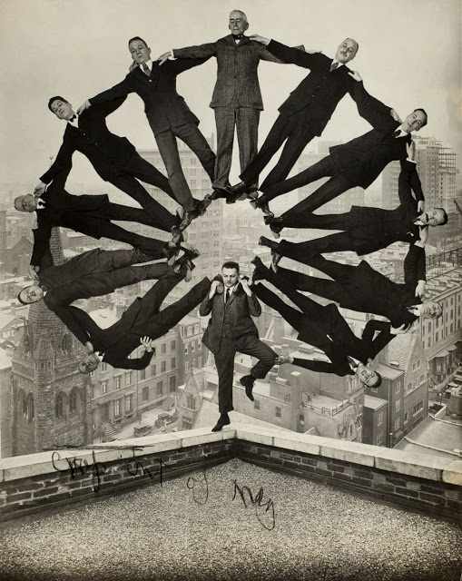 10-_man-on-rooftop-with-eleven-men_unidentified-american-artist-web