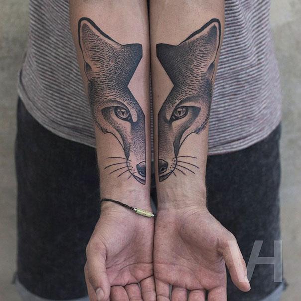tatuagens-simetricas-natureza-pontilhismo-1