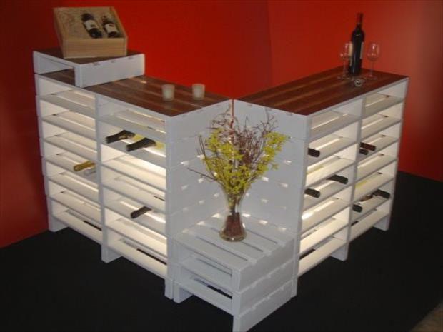 Mini Bar en bois de palettes Voici 20 ides cratives