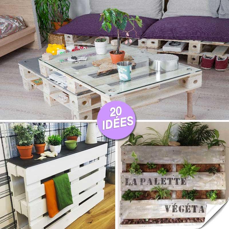 meubles originaux en bois de palette