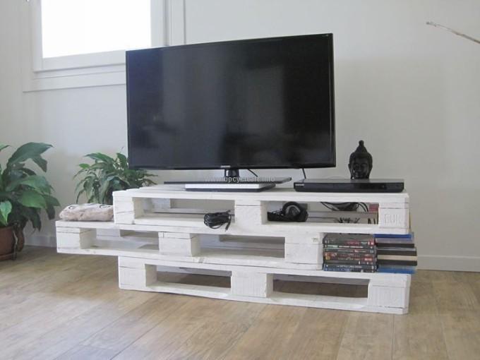 meubles tv fabriques avec des palettes