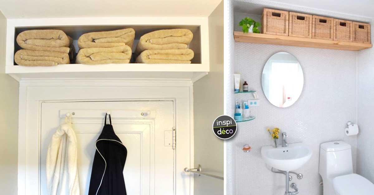 Optimiser Une Petite Salle De Bain Avec Une Etagere Bien Pensee 20 Idees