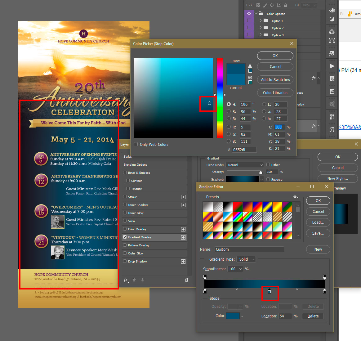 Choose Color with Photoshop Color Picker