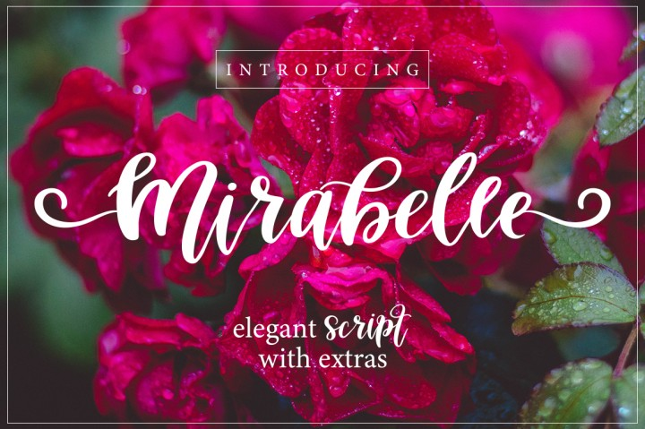 mirabelle-script-font-with-extras Script fonts