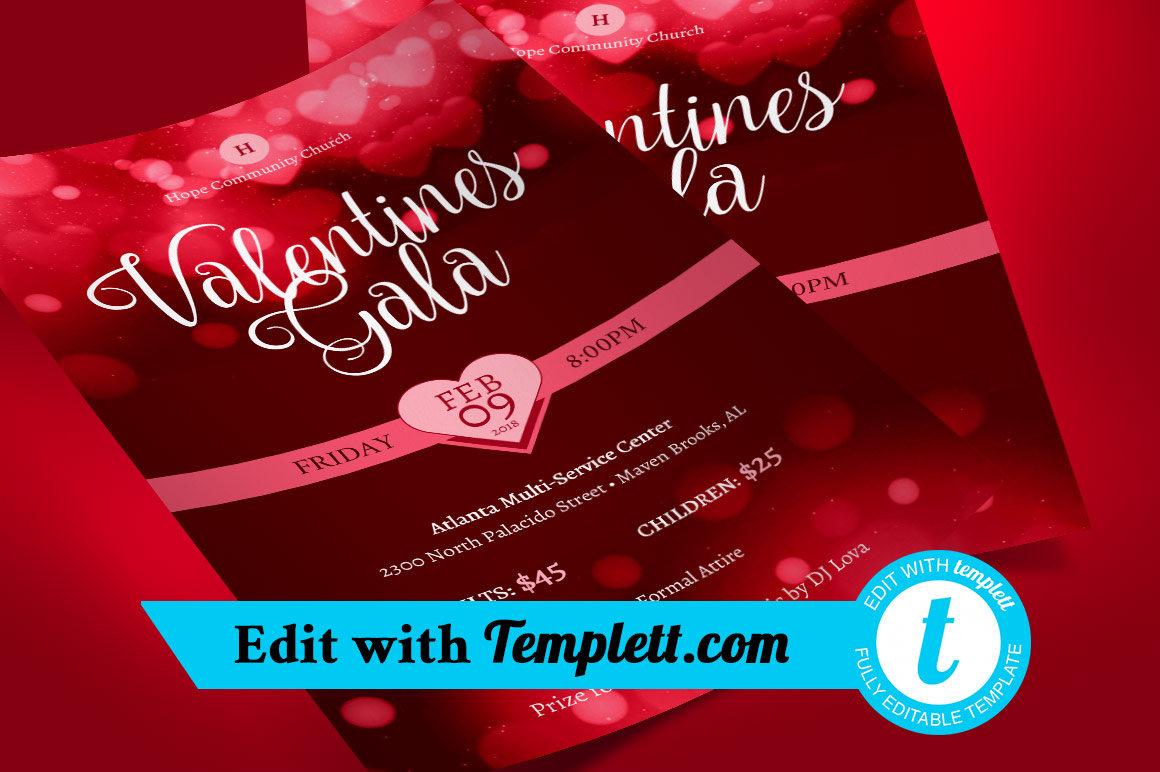 Valentines Gala Flyer Templett