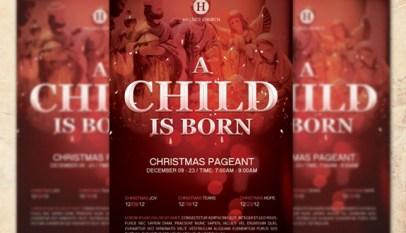 christmas pageant kids church flyer template inspiks market