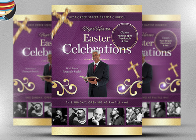 Easter Celebrations Church Flyer Template – Religious Flyer Templates