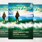 God's Green Earth Church Flyer and CD Template