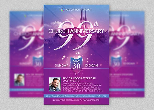 church celebration flyer template