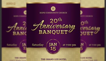 Anniversary banquet ticket and jacket template inspiks market church anniversary banquet ticket template pronofoot35fo Images