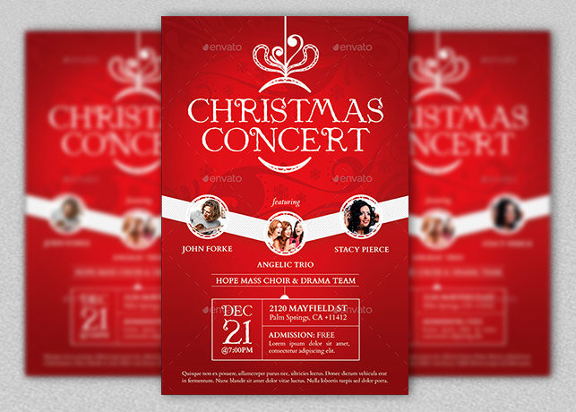 Christmas concert flyer and poster inspiks for Christmas brochure template