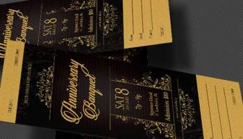 Anniversary banquet ticket template inspiks market golden anniversary banquet ticket template pronofoot35fo Images
