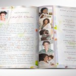 Blossoms Funeral Program Word Publisher Template
