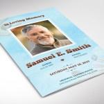 Seashell Funeral Program Word Publisher Template