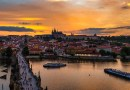 Prague Bridge Sunset River Boat