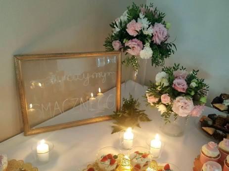Dekoracja ślubna-Złoto i róż