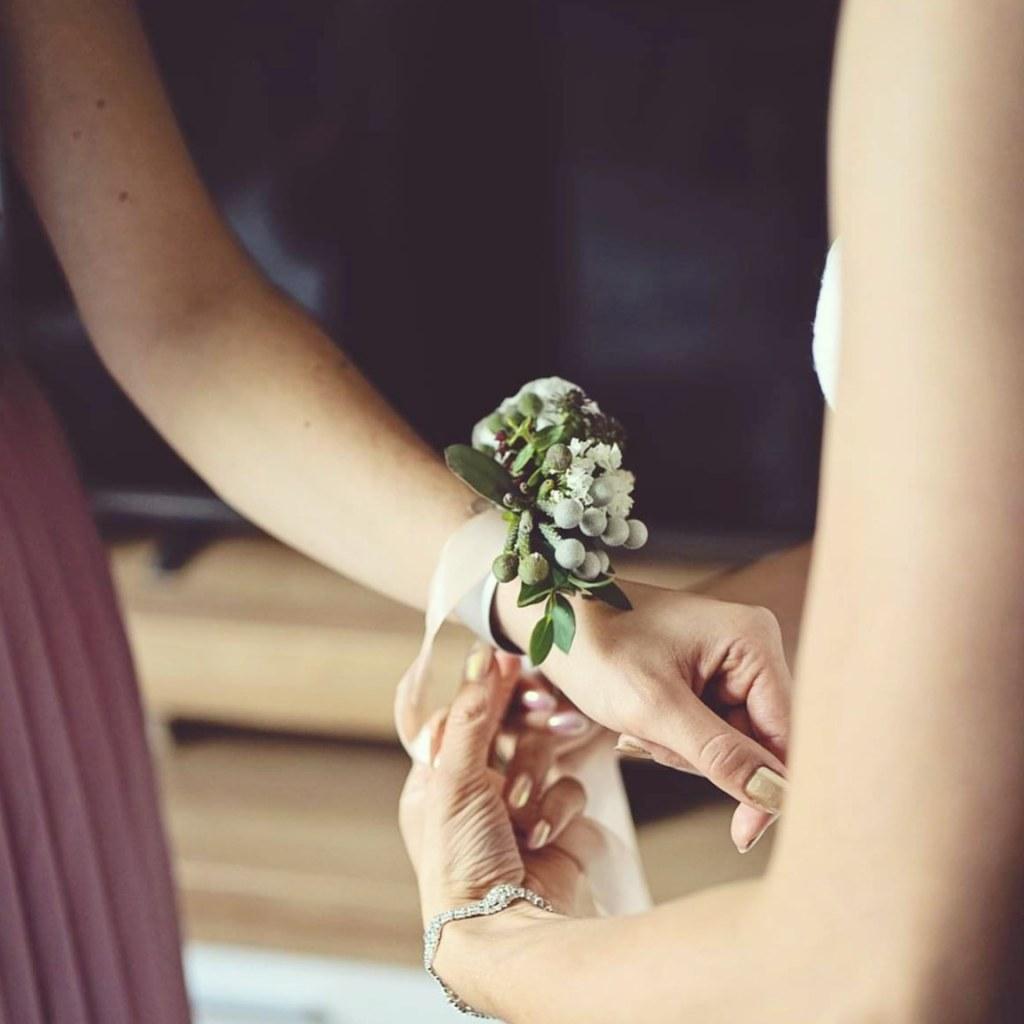 Dekoracja ślubna - bransoletka