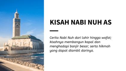 Kisah Nabi Nuh AS dari Lahir Hingga Wafat