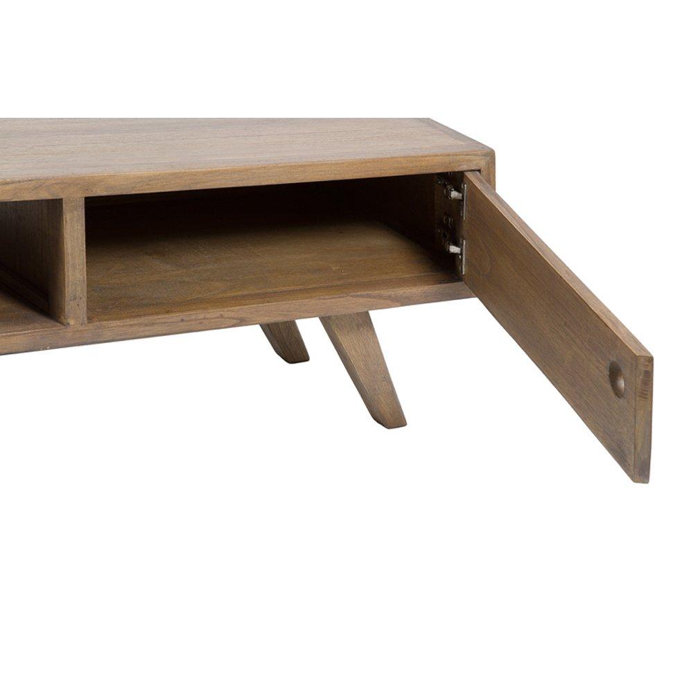 meuble tv en bois de mindy 160 x 45 cm