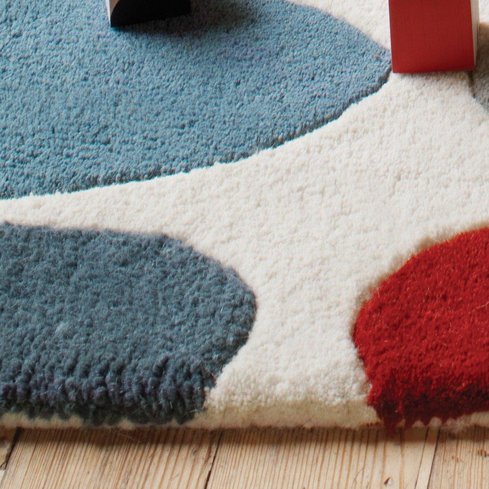 tapis moderne multicolore en laine et tufte main