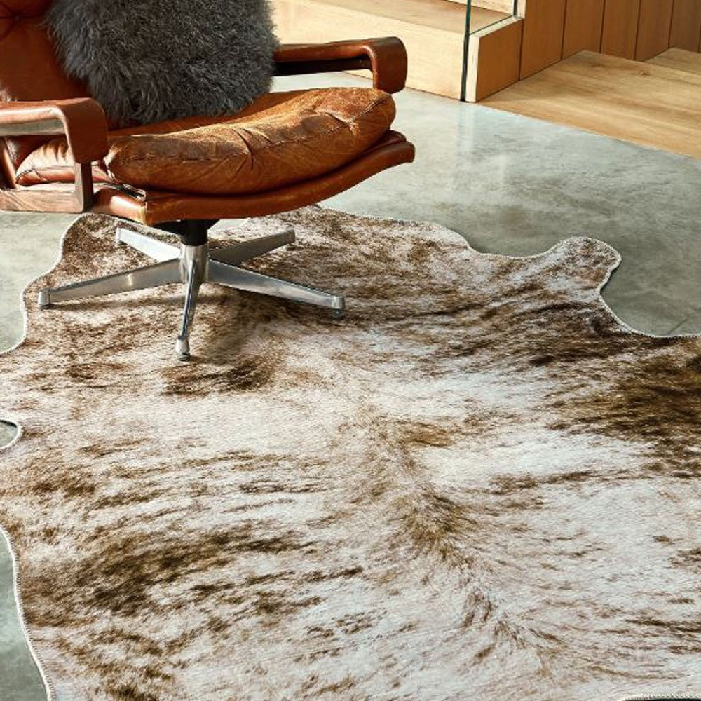 tapis en polyester impression peau de bete gris 190 x 240 cm par joseph lebon
