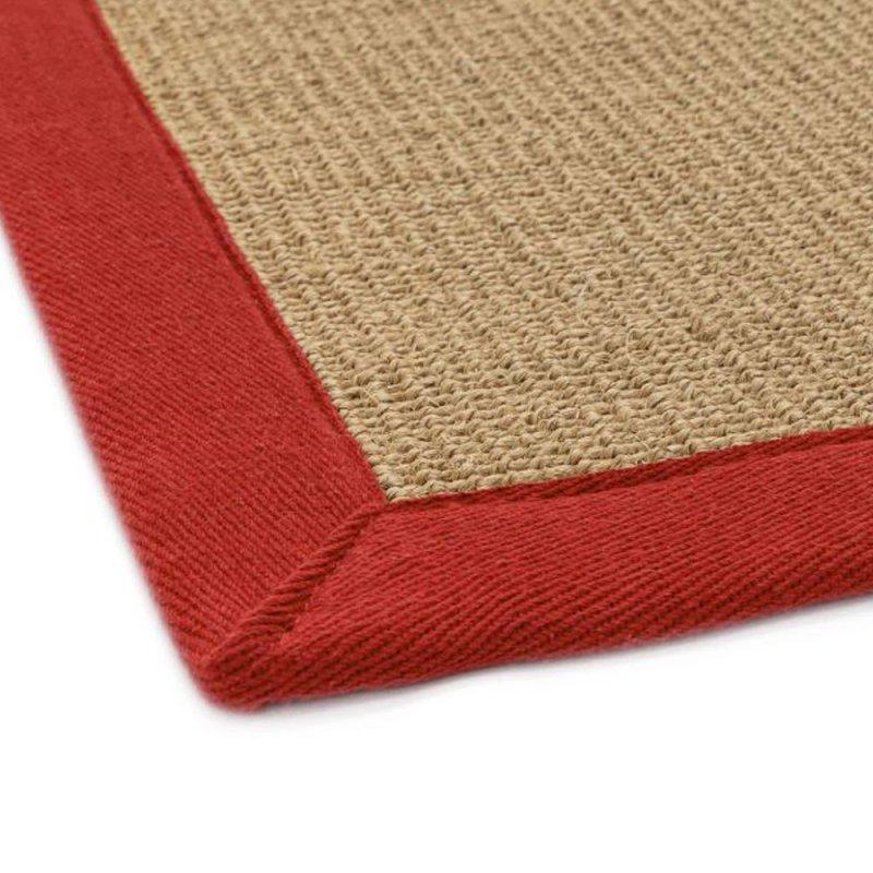 tapis design en sisal avec bordure coton rouge par joseph lebon inspiration luxe