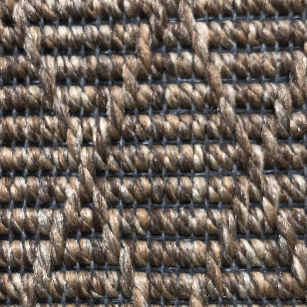 tapis d exterieur rond sur mesure beige en polypropylene