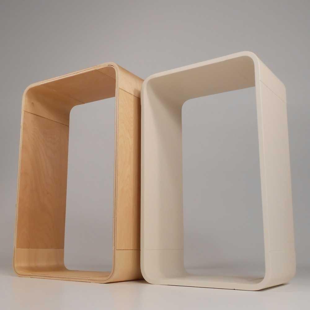 Etagere Cube Le Lot De 2 Une En Couleur Bois Et Une Blanche Inspiration Luxe