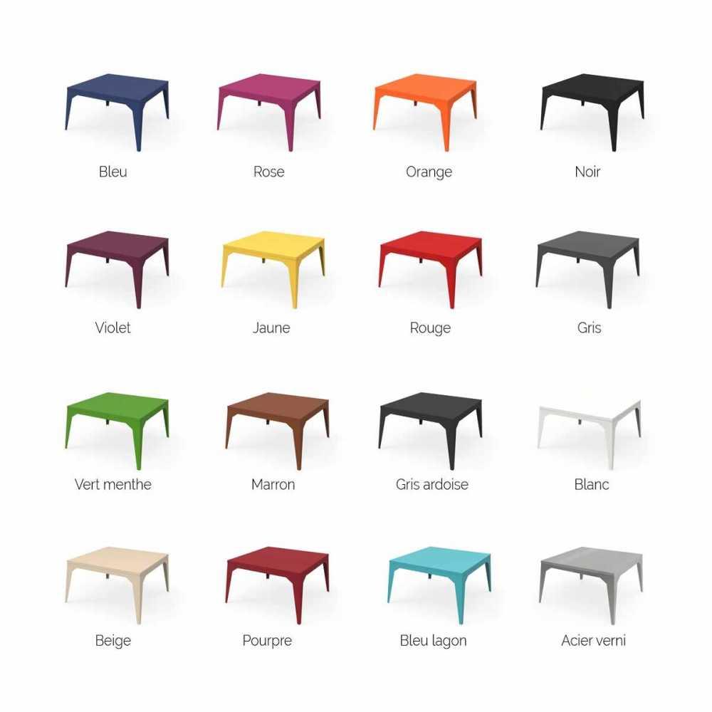 table basse en acier personnalisable d interieur et d exterieur carree ou rectangulaire