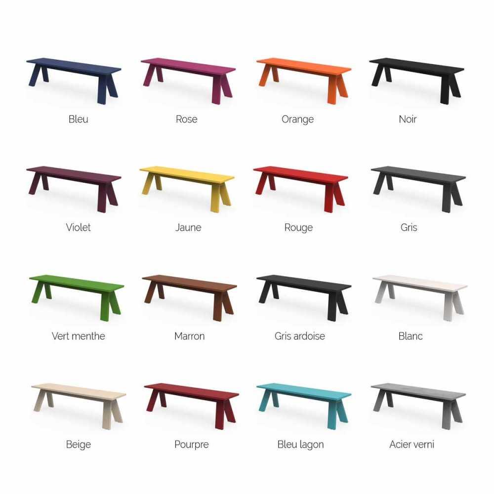 banc design en metal personnalisable interieur et exterieur