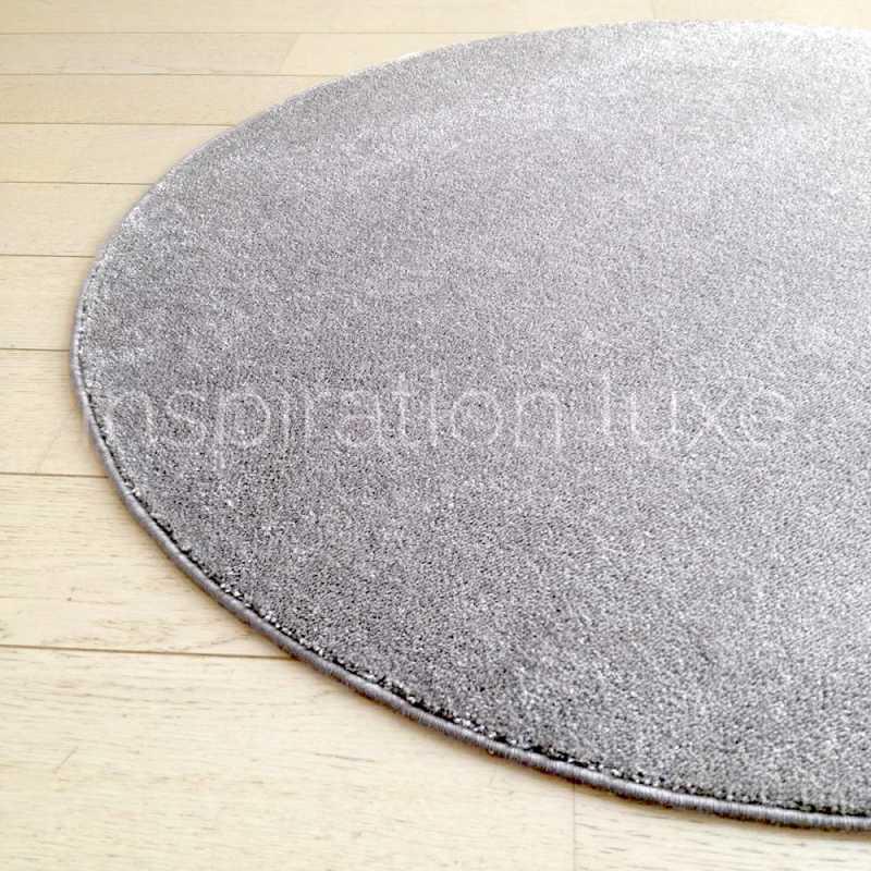 tapis rond sur mesure gris fin