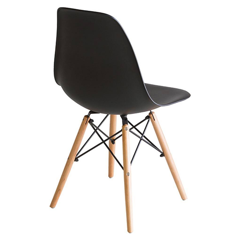 lot de 4 chaises scandinave noire design en polypropylene