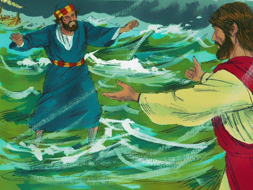 Simon Peter Walk Of Water With Jesus
