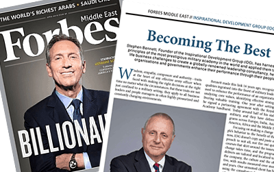 """Interview with IDG chairman Stephen Bennett in Forbes Middle East magazine – """"Becoming The Best"""""""