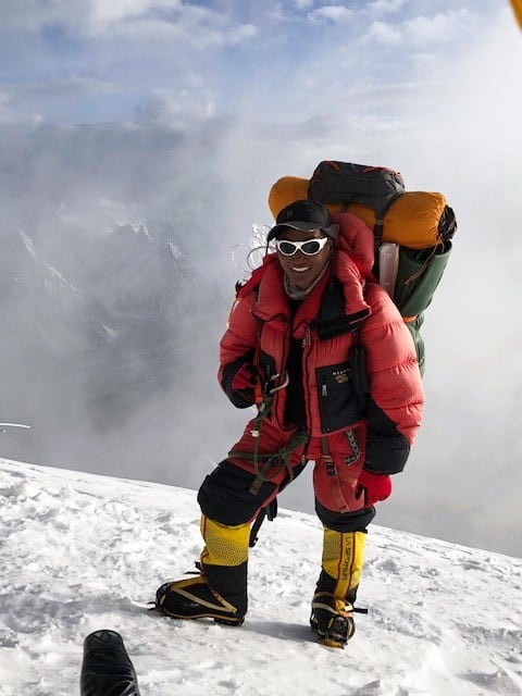 Ang Dorje Sherpa arriving into camp 3