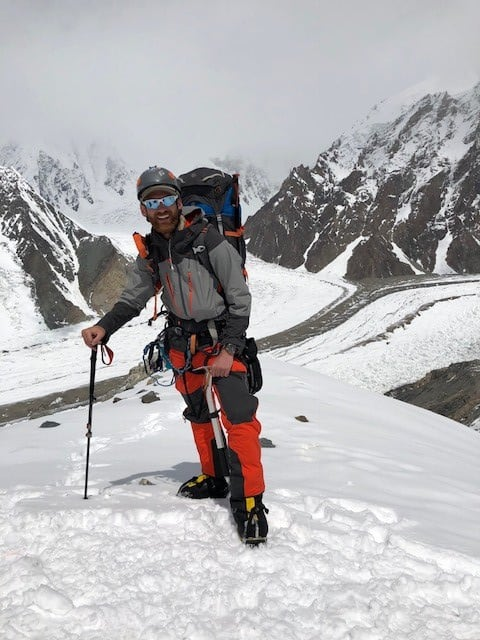 Jake about half way to camp 1 on Broad Peak
