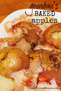 Grandma's Baked Apples